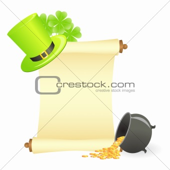 st. patrick's day scroll