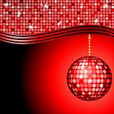 abstract red disco ball