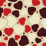 Hearts seamless Background. EPS 8
