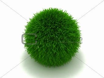 Green furry ball
