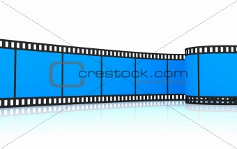 35mm blue film strip
