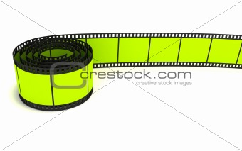 35mm green film strip