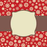 Retro Snowflakes template card. EPS 8