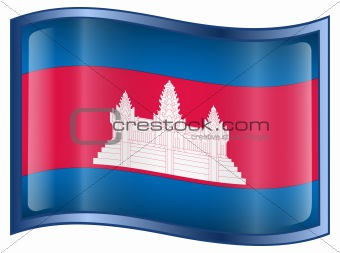Cambodia flag icon.