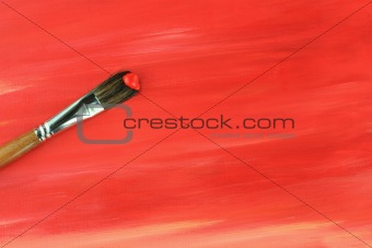 Paintbrush and Painted Background