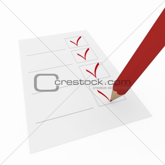 3d check pen red