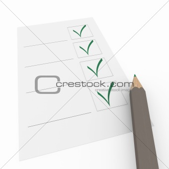 3d check box gray pencil