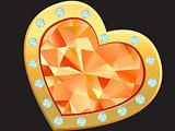 heart with diamond