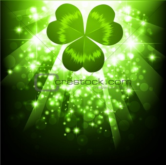St.Patrick holiday bright background