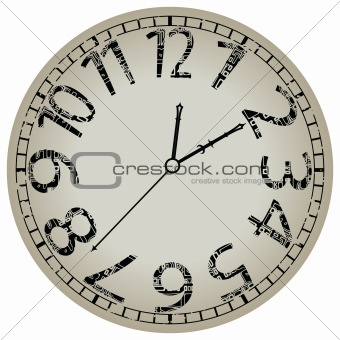 abstract clock against white