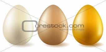 Three realistic eggs
