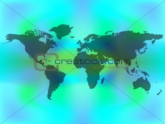 abstract map over colored background