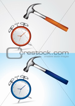 Beat the time concept - vector illustration