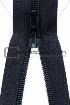 Black sewing zipper