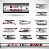 the abstract metallic banner set