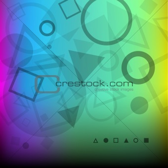 Abstract background of dark geometrical shapes