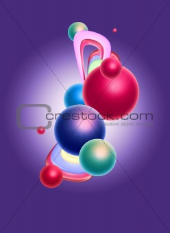 Abstract background sphere design