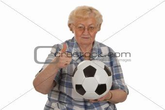 Aged soccer fan