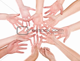 Group of Human Hands