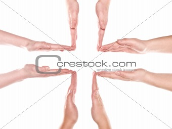 Formation of human hands