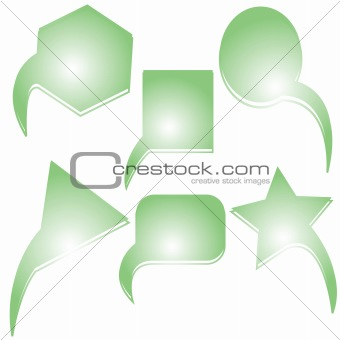 abstract green text bubbles