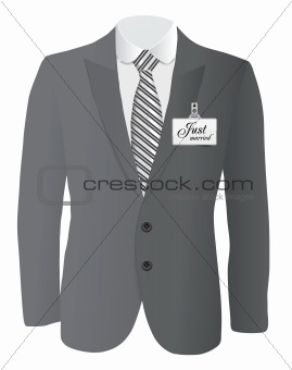suit for wedding concept