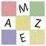 abstract square maze