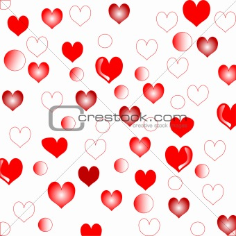 wedding love hearts background