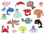 Sea animals,icons.