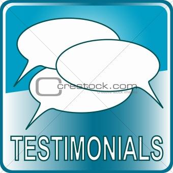blue Button Web icon testimonials