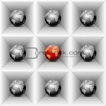 Abstract background with globe.
