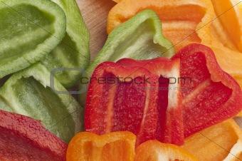 Sliced Bell Pepper Background