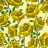 Yellow roses pattern