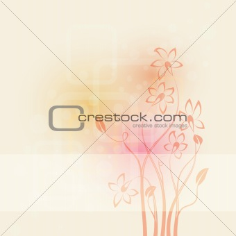abstract background with flowers