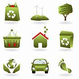 Recycle and green eco symbols