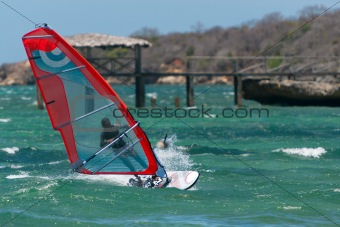 Windsurf in the lagoon