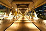 modern flyover at night