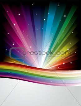 Abstract Rainbow Disco Background