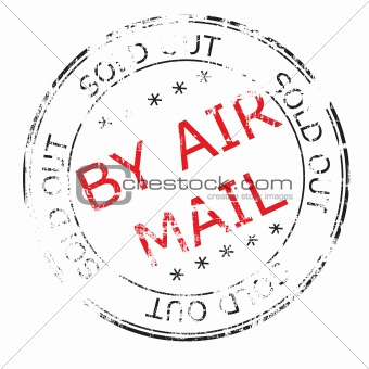 by air mail grunge stamp vector illustration