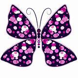 Dark violet butterfly