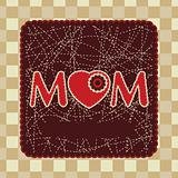 Vintage frame design for mother day. EPS 8