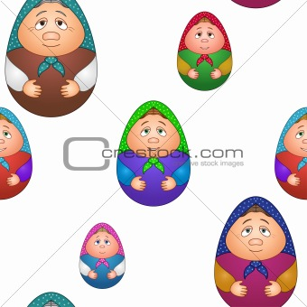 Background, dolls matreshka