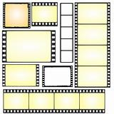 set of real and grunge film frames