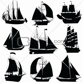 Sailing ships collection