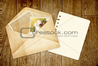 Old envelope with photos