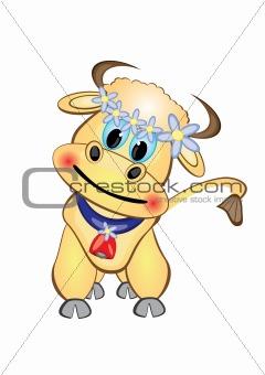 Calf Cartoon Character