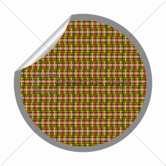 alternative stripes sticker isolated on white