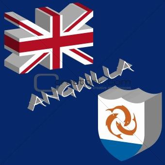 anguilla 3d flag