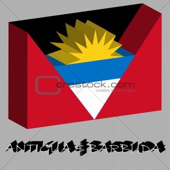 antigua and barbuda 3d flag