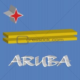 aruba 3d flag